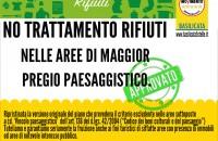 NO TRATTAMENTO RIFIUTI NELLE AREE DI MAGGIOR PREGIO PAESAGGISTICO.