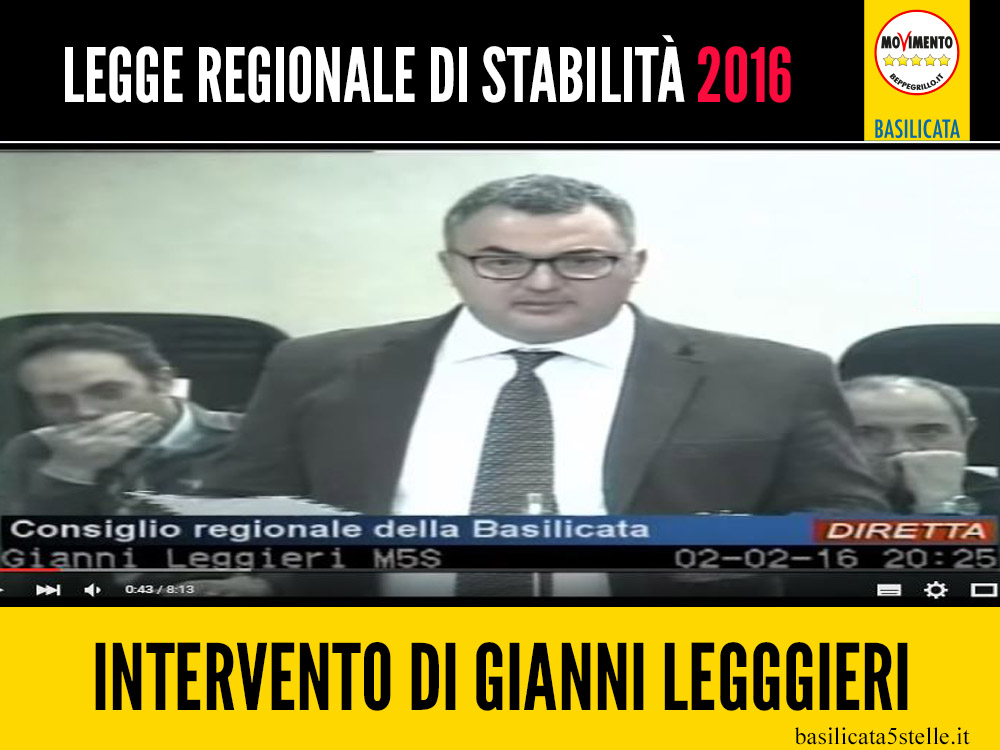 Gianni Leggieri sulla Legge di Stabilità 2016