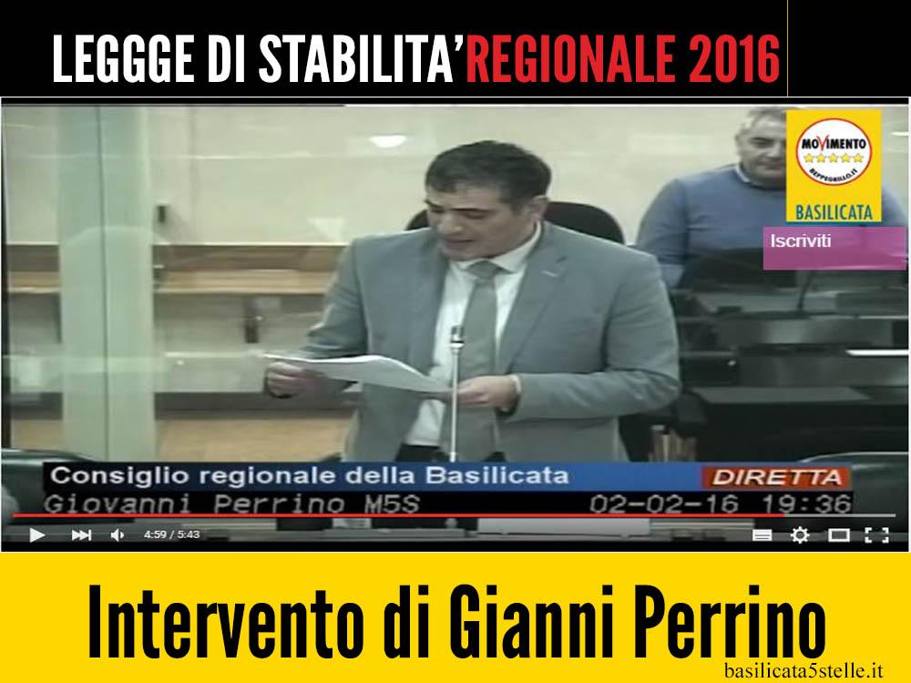 Perrino replica alla relazione di Pittella sul bilancio 2016.