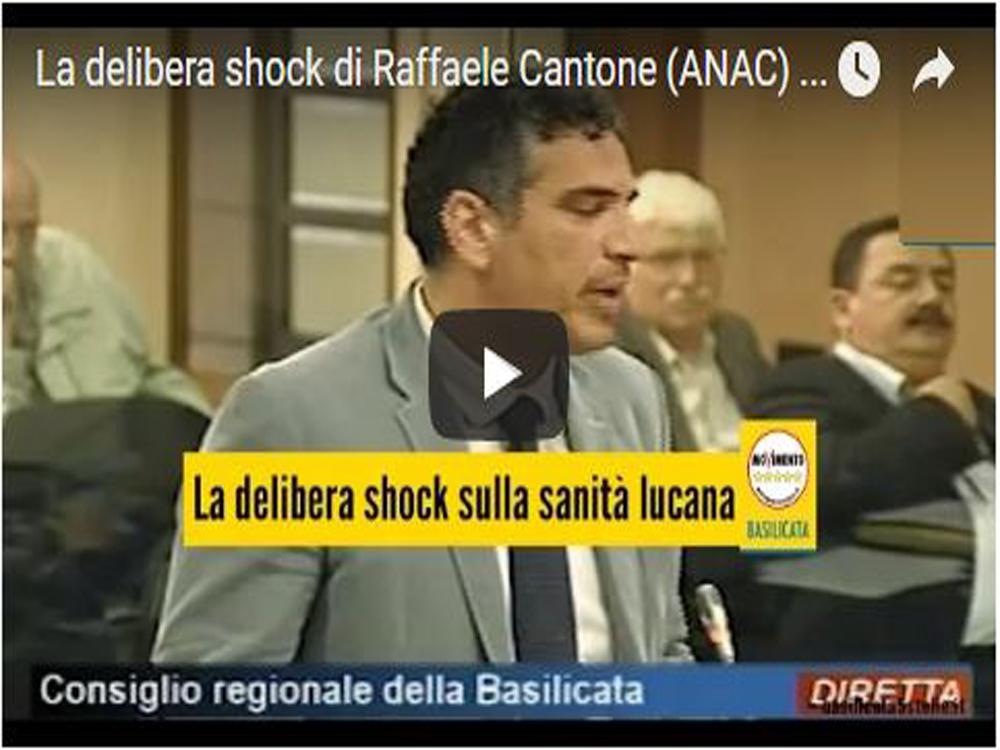 La delibera shock di Raffaele Cantone (ANAC) sulla sanità lucana.