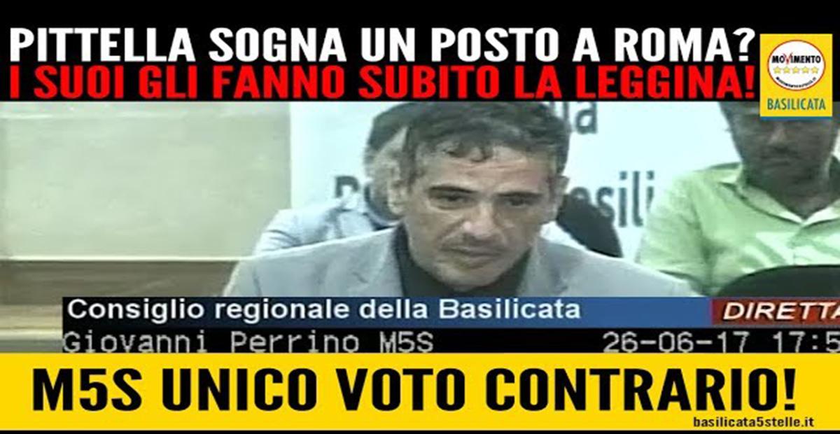 Pittella vuole andare a Roma e i suoi gli fanno la leggina.