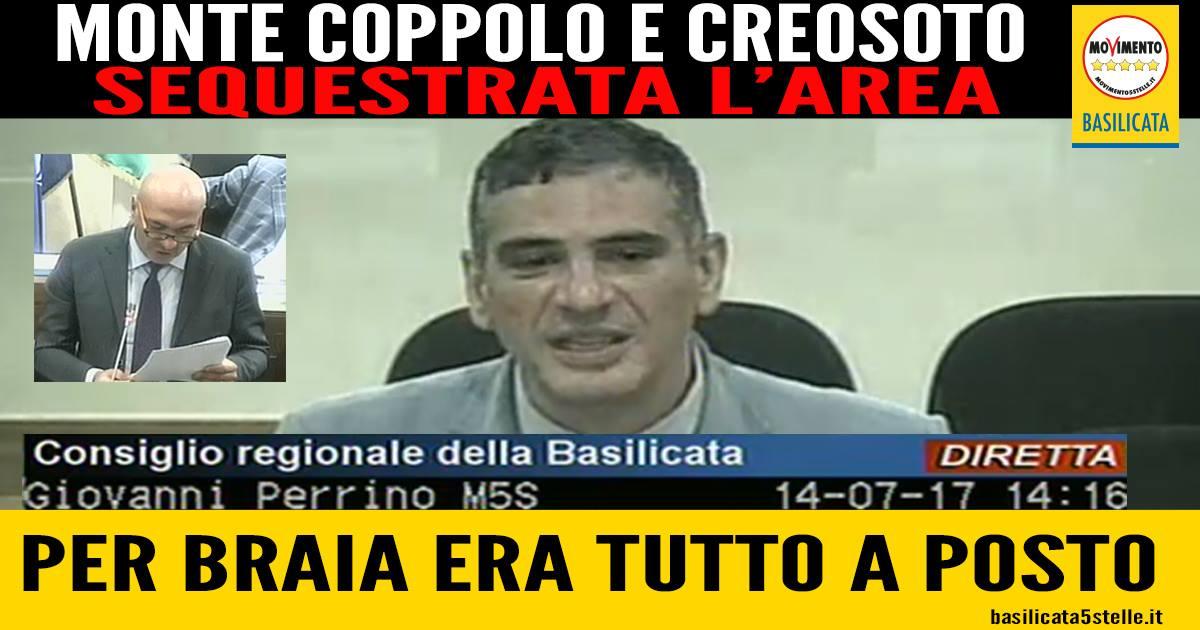 """I carabinieri mettono i sigilli sul Monte Coppolo. Solo qualche giorno fa Braia affermava: """"E' tutto a posto!""""."""