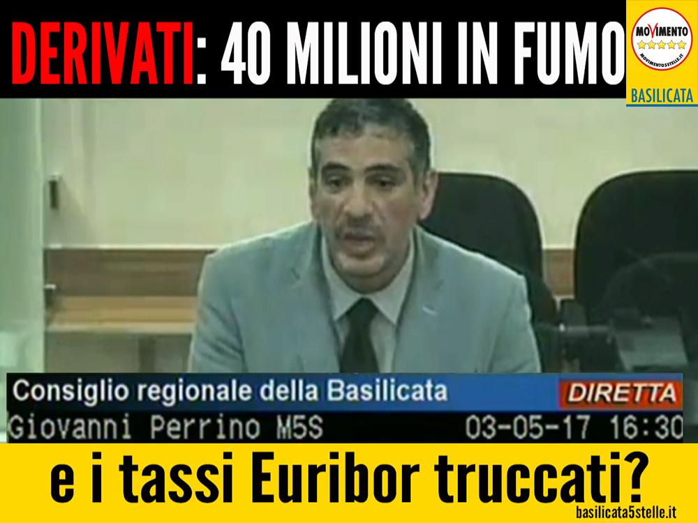 Derivati 40 milioni di euro in fumo, ma i tassi Euribor furono truccati: lo avevamo già affermato a maggio 2017.