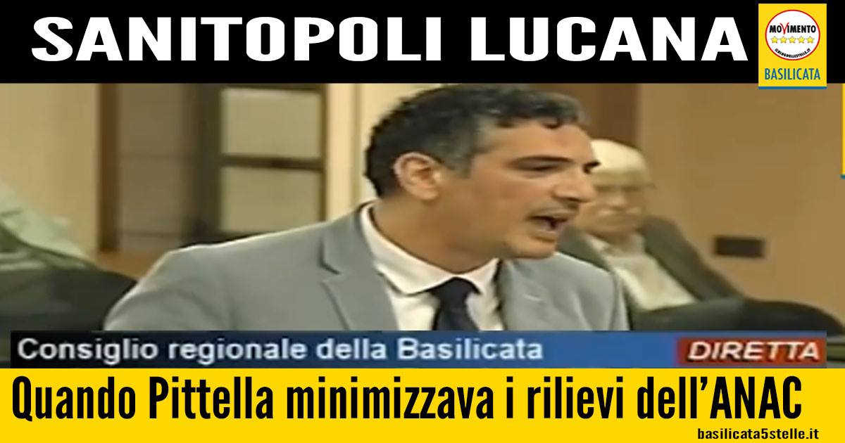 Quando Pittella minimizzava i rilievi di Cantone (ANAC)