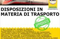 Disposizioni in materia di trasporto