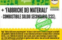 + 'FABBRICHE DEI MATERIALI', - COMBUSTIBILE SOLIDO SECONDARIO (CSS).
