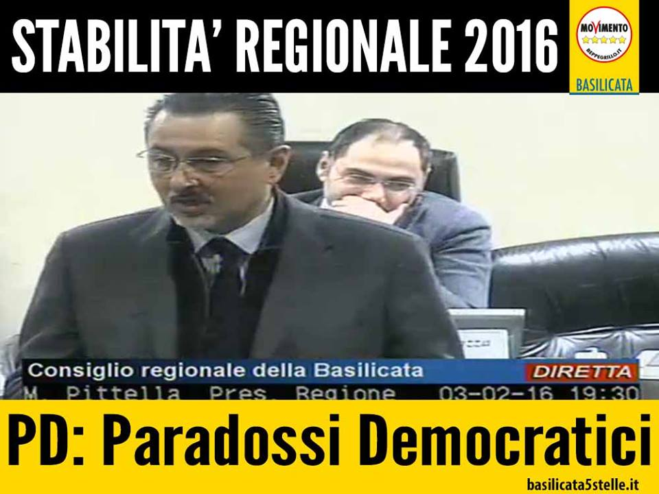 consiglio regione basilicata